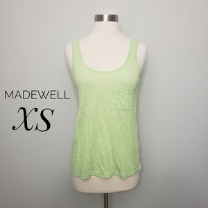 MADEWELL airy willow linen pocket tank top